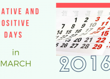 Negative and Positive days in March 2016